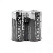 Литиевая батарейка Li-MNO2 Robiton CR123A 3В 2шт