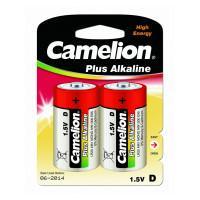 Батарейки Camelion Plus Alkaline 1654 D LR20 алкалиновые 1,5В 2шт