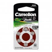 Батарейка Camelion 12825 A312 PR41 1,45В для слухового аппарата 6шт
