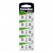 Батарейка Camelion 12812 AG4 LR626 377 1,5В дисковая алкалиновая 10шт