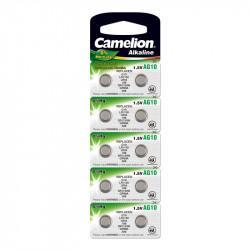 Батарейка Camelion 12818 AG10 LR1130 389 1,5В дисковая алкалиновая 10шт