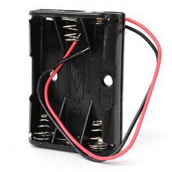 Батарейный отсек с проводами ROBITON Bh3xAAA для 3 батареек или аккумуляторов размера ААА и 10440