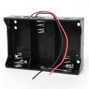 Батарейный отсек с проводами ROBITON Bh3xD для 3 батареек или аккумуляторов размера D LR20 или 32600