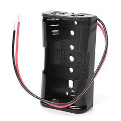 Батарейный отсек с проводами ROBITON Bh2xAA для двух батареек или аккумуляторов размера АА и 14500