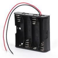 Батарейный отсек с проводами ROBITON BH4xAA для 4 батареек или аккумуляторов размера АА и 14500