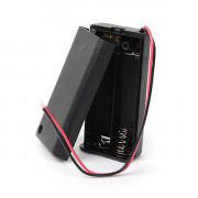 Батарейный отсек с проводами закрытый с переключателем ROBITON Bh2xAA/switch для двух батареек или аккумуляторов размера АА или 14500