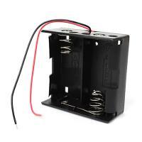 Батарейный отсек с проводами ROBITON Bh2xD для двух батареек или аккумуляторов размера D LR20 или 32600
