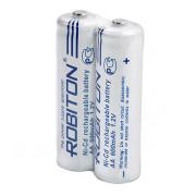 Аккумуляторы Ni-Cd никель-кадмиевые Robiton 600NCAA high top SR2 AA 14500 600 мАч 1,2 В 2шт