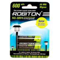 Аккумуляторы Ni-Mh для солнечных светильников Robiton 600MHAA Solar HR6 AA 600 мАч 1,2 В 2шт