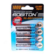 Аккумуляторы Ni-Mh металлогидридные Robiton 1000MHAA AA 1000 мАч 1,2 В 4шт