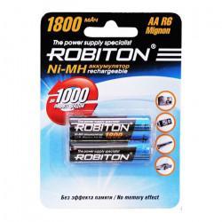 Аккумуляторы Ni-Mh металлогидридные Robiton 1800MHAA HR6 АА 1800 мАч 1,2 В 2шт