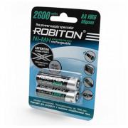 Аккумуляторы Ni-Mh металлогидридные Robiton RTU2600MHAA AA 2600 мАч 1,2 В 2шт