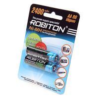 Аккумуляторы Ni-Mh металлогидридные Robiton RTU2400MHAA AA 2400 мАч 1,2 В 2шт