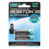 Аккумуляторы Ni-Mh металлогидридные Robiton 1300MHAA Dect HR6 AA 1300 мАч 1,2 В 2шт