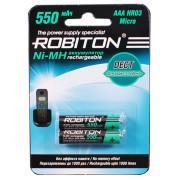 Аккумуляторы Ni-Mh металлогидридные Robiton 550MHAAA Dect HR03 AAA 550 мАч 1,2 В 2шт