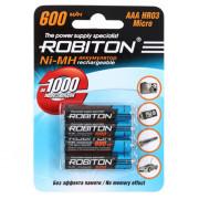 Аккумуляторы Ni-Mh металлогидридные Robiton 600MHAAA HR03 AAA 600 мАч 1,2 В 4шт