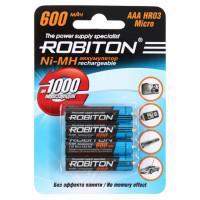 Ni-Mh аккумуляторы Robiton AAA 600мАч 4шт