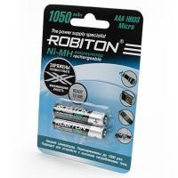 Аккумуляторы Ni-Mh металлогидридные Robiton RTU1050MHAAA AAA 1050 мАч 1,2 В  2шт