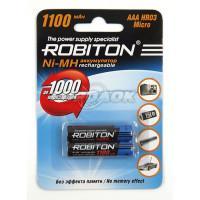 Аккумуляторы Ni-Mh металлогидридные Robiton AAA 1100MHAAA 1100 мАч 1,2 В 2шт