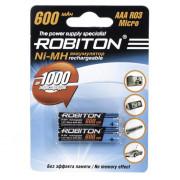 Аккумуляторы Ni-Mh металлогидридные Robiton 600MHAAA HR03 AAA 600 мАч 1,2 В 2шт