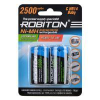 Аккумуляторы Ni-Mh металлогидридные Robiton RTU2500MHC HR14 C 2500 мАч 1,2 В 2шт
