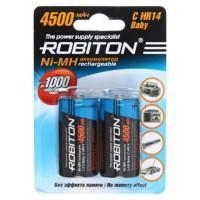 Аккумуляторы Ni-Mh металлогидридные Robiton 4500MHC HR14 C 4500 мАч 1,2 В 2шт