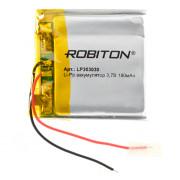 Аккумулятор литий-полимерный Li-Pol Robiton 303030 3,7В 180мАч