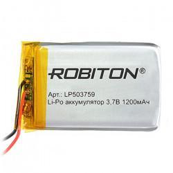 Аккумулятор литий-полимерный Li-Pol Robiton 503759 3,7В 1200мАч