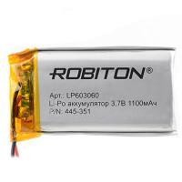 Аккумулятор Li-Po Robiton 603060 1100мАч