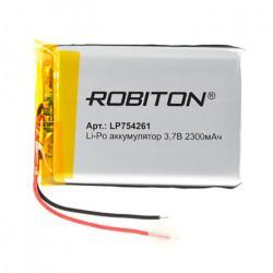 Аккумулятор литий-полимерный Li-Pol Robiton 754261 3,7В 2300мАч