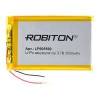 Аккумулятор литий-полимерный Li-Pol Robiton 605590 3,7В 3500мАч