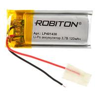 Аккумулятор литий-полимерный Li-Pol Robiton 401430 3,7В 120мАч