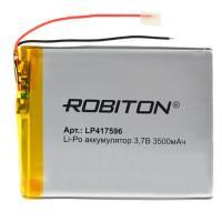 Аккумулятор литий-полимерный Li-Pol Robiton 417596 3,7В 3500мАч