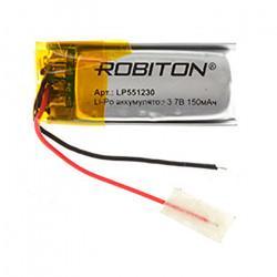 Аккумулятор литий-полимерный Li-Pol Robiton 551230 3,7В 150мАч
