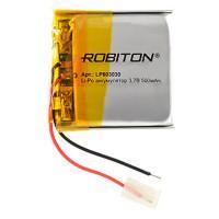 Аккумулятор литий-полимерный Li-Pol Robiton 603030 3,7В 500мАч