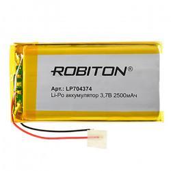 Аккумулятор литий-полимерный Li-Pol Robiton 704374 3,7В 2500мАч