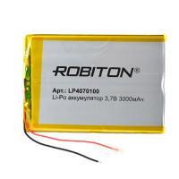 Аккумулятор литий-полимерный Li-Pol Robiton 4070100 3,7В 3000мАч