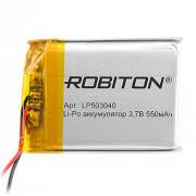 Аккумулятор литий-полимерный Li-Pol Robiton 503040 3,7В 550мАч