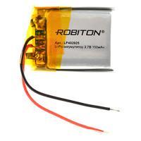 Аккумулятор литий-полимерный Li-Pol Robiton 3,7В 402025 150мАч