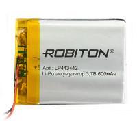 Аккумулятор литий-полимерный Li-Pol Robiton 443442 3,7В 600мАч
