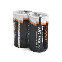 Специальные литиевые батарейки Li-SOCl2 Robiton ER26500 C 9000 мАч 3,6В 2шт с лепестковыми выводами