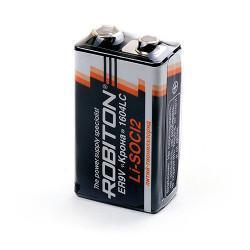 Специальная литиевая батарейка Li-SOCl2 Robiton ER9V Крона 10,8В