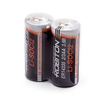 Специальные литиевые батарейки Li-SOCl2 Robiton ER14335 2/3АА 1600 мАч 3,6В 2шт
