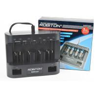 Зарядное устройство для кроны 9V, AA, AAA, C, D Robiton MultiCharger для 6 аккумуляторов