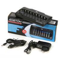 Умное зарядное устройство с функцией разряда Robiton VolumeCharger для Ni-Mh Ni-Cd на 8 аккумуляторов АА и ААА
