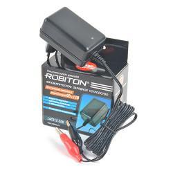 Зарядное устройство для свинцово-кислотных аккумуляторов напряжением 6 В и 12 В Robiton LAC612-500 зажим КРОКОДИЛ