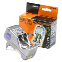 Портативное простое зарядное устройство ROBITON SD250-4 для Ni-Cd Ni-Mh на 4 аккумулятора АА и ААА