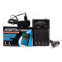 Умное зарядное устройство Robiton Smart S100 для Ni-Mh Ni-Cd на 4 аккумулятора АА и ААА с функцией разряда