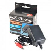 Зарядное устройство для свинцово-кислотных аккумуляторов напряжением 6 В и 12 В Robiton LAC612-1000 зажим КРОКОДИЛ
