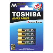 Батарейки алкалиновые Toshiba Alpha Power AAA LR03 1,5В 4шт<br />